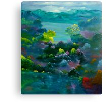 Blue Mountain Valley Canvas Print