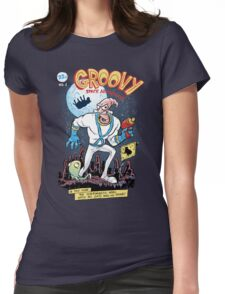 Groovy Space Adventures Womens Fitted T-Shirt