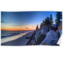 Winters Sunset Poster