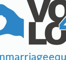 #Vote4Love (Logo) - Stickers Sticker