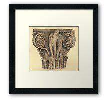 Roman column - architecture Framed Print