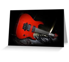 Ibanez MTM1 Mick Thompson Slipknot Guitar Greeting Card