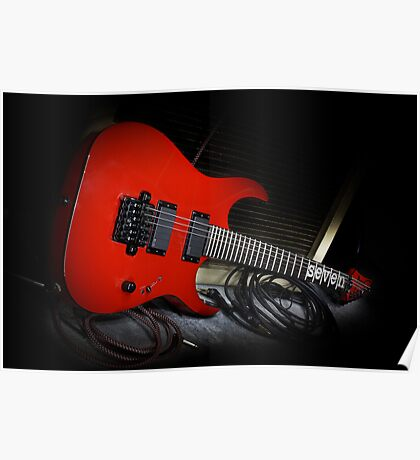 Ibanez MTM1 Mick Thompson Slipknot Guitar Poster