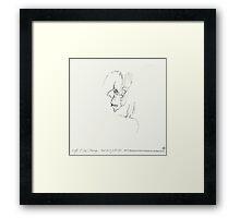 Night & Nap Drawings 92 - Empty skull - eyes closed - 31th July 2013 Framed Print