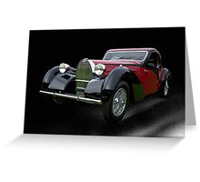 1937 Bugatti Type 57 SC Atalante Coupe V Greeting Card