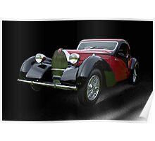 1937 Bugatti Type 57 SC Atalante Coupe V Poster