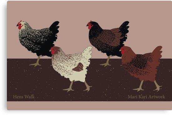 Hens Walk by Inque