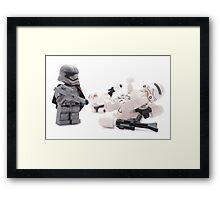 Uh Captain, I think these new flametroopers are a little top heavy Framed Print