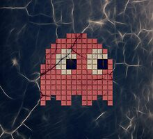 Pac-Man Pink Ghost by Psocy