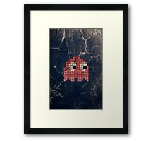Pac-Man Pink Ghost Framed Print