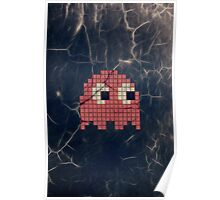 Pac-Man Pink Ghost Poster
