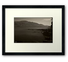 Misty Loch Ness Framed Print