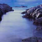 Rocky inlet at Eyemouth by Sue Fallon Photography