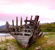 Tarmine Boat Wreck by Sue Fallon Photography