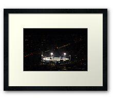 MCG Lights Framed Print