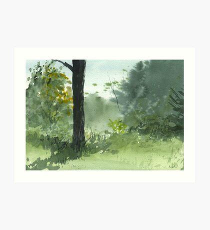Sitting Under The Apple Tree Art Print