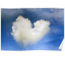 a natural heart shaped cloud Poster