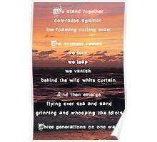 Three Generations Surfing Poster