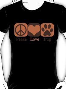 Peace, Love, Pug T-Shirt