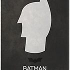 Minimal Batman Movie Poster - The Dark Knight by tomshutterbug