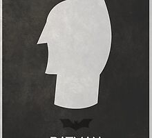 Minimal Batman Movie Poster - The Dark Knight by Tom Brown