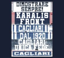 Cagliari Calcio Stadio Sant'elia Art Vintage by marting04