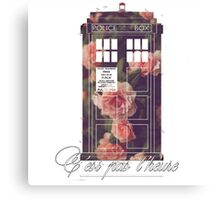tardis flower  Canvas Print