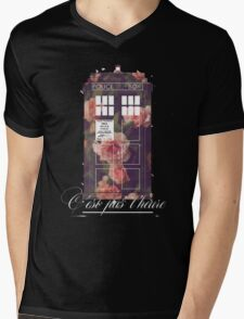 tardis flower  Mens V-Neck T-Shirt