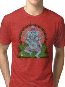 peace ganesh parchment Tri-blend T-Shirt