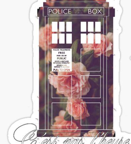 tardis flower  Sticker