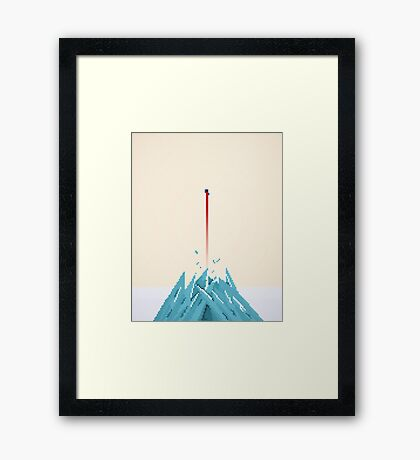 Fortress of Solitude Breakout Framed Print