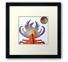 Phoenix Rising Light Framed Print