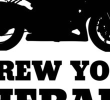 Screw Your Therapy, I Ride A Motorcycle Sticker
