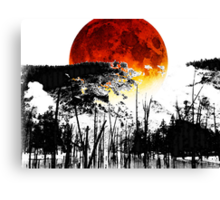 The Red Moon - Landscape Art By Sharon Cummings Canvas Print