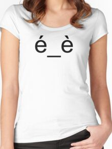 Embarrassed 3 Women's Fitted Scoop T-Shirt