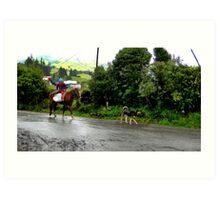 Neither Rain Nor Sleet - Painting Art Print