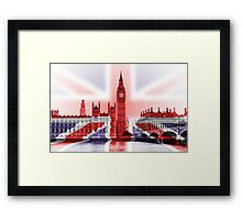 Big Ben with union Jack wrap Framed Print
