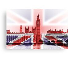 Big Ben with union Jack wrap Canvas Print
