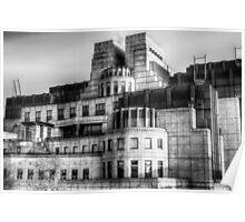 The SIS Secret Service Building London Poster