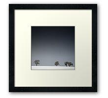 Winter Tree Skyline Framed Print