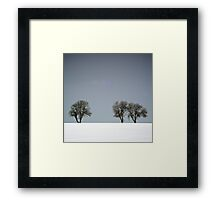 Winter Trees Skyline 3 Framed Print