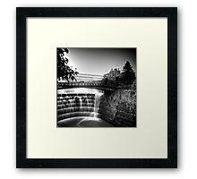 Ripley Castle Waterfall Framed Print