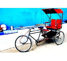 A bicycle on Indian streets Photographic Print
