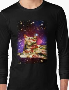 Pizza Cat in Space Shirt Long Sleeve T-Shirt