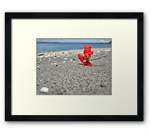 Ninja lifeguard Framed Print