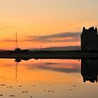 Lochranza Castle Sunset by Rachel Slater