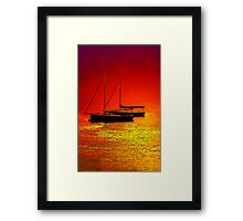 Sea Of Fire Framed Print