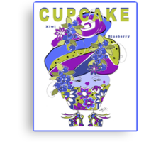 CUPCAKE : Kiwi Blueberry Canvas Print