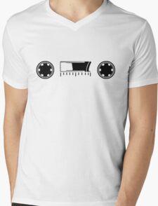 Albie's Rocknroll T-Shirt (Black) Mens V-Neck T-Shirt