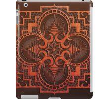 omjárah mandala woodcut iPad Case/Skin